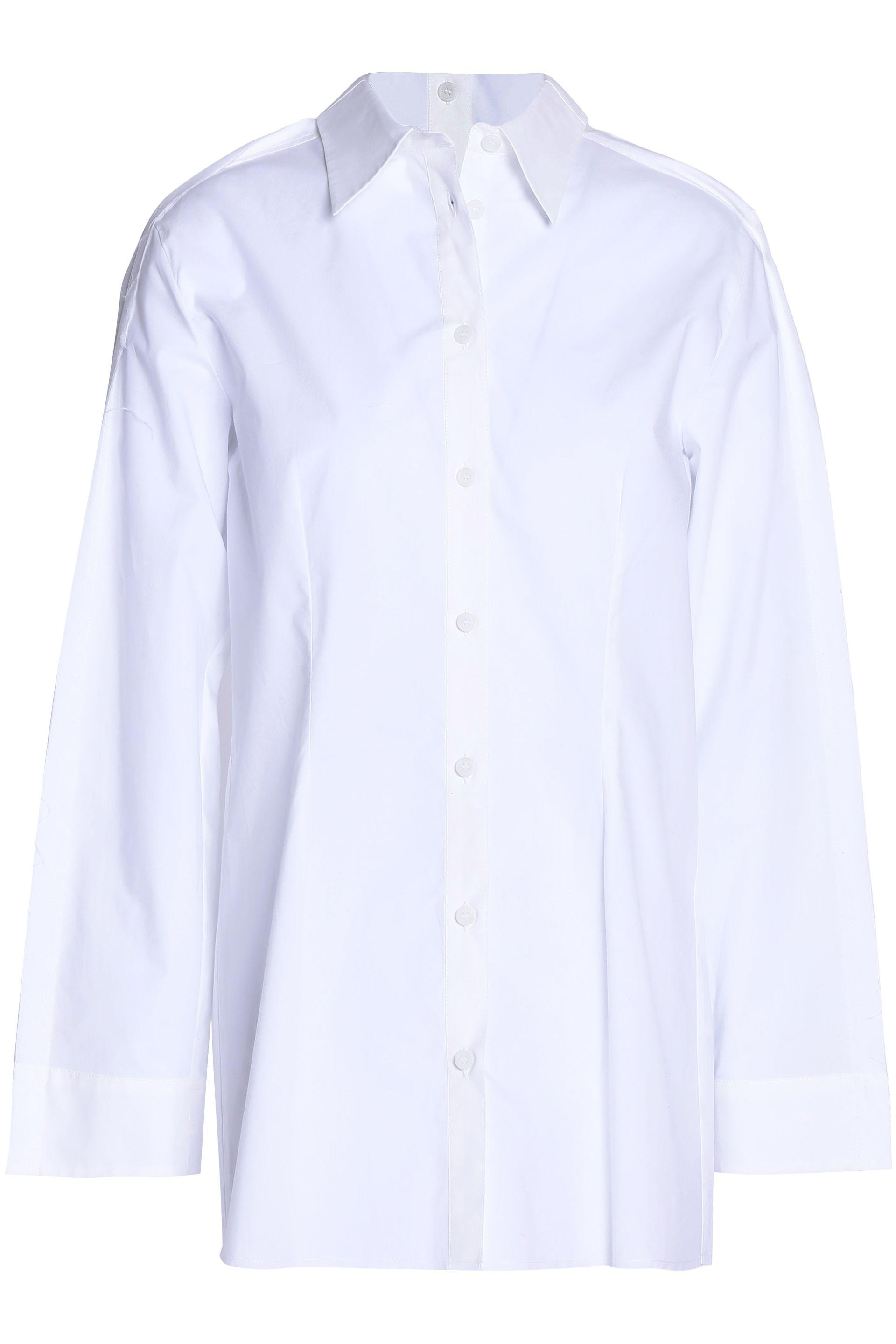 Mm6 By Maison Margiela Woman Striped Satin-twill Shirt Gray Size 42 Maison Martin Margiela Cheap Sale Very Cheap Sale Extremely Where Can I Order VCX3Wwjz8