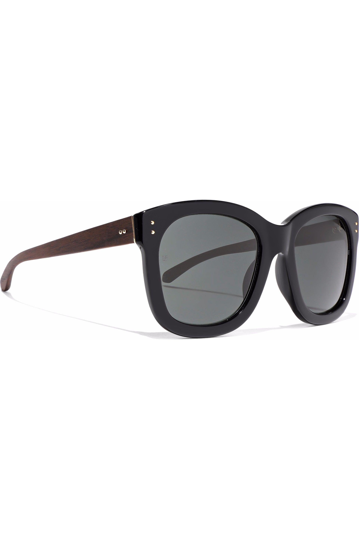 Linda Farrow Square-frame Acetate Sunglasses in Black