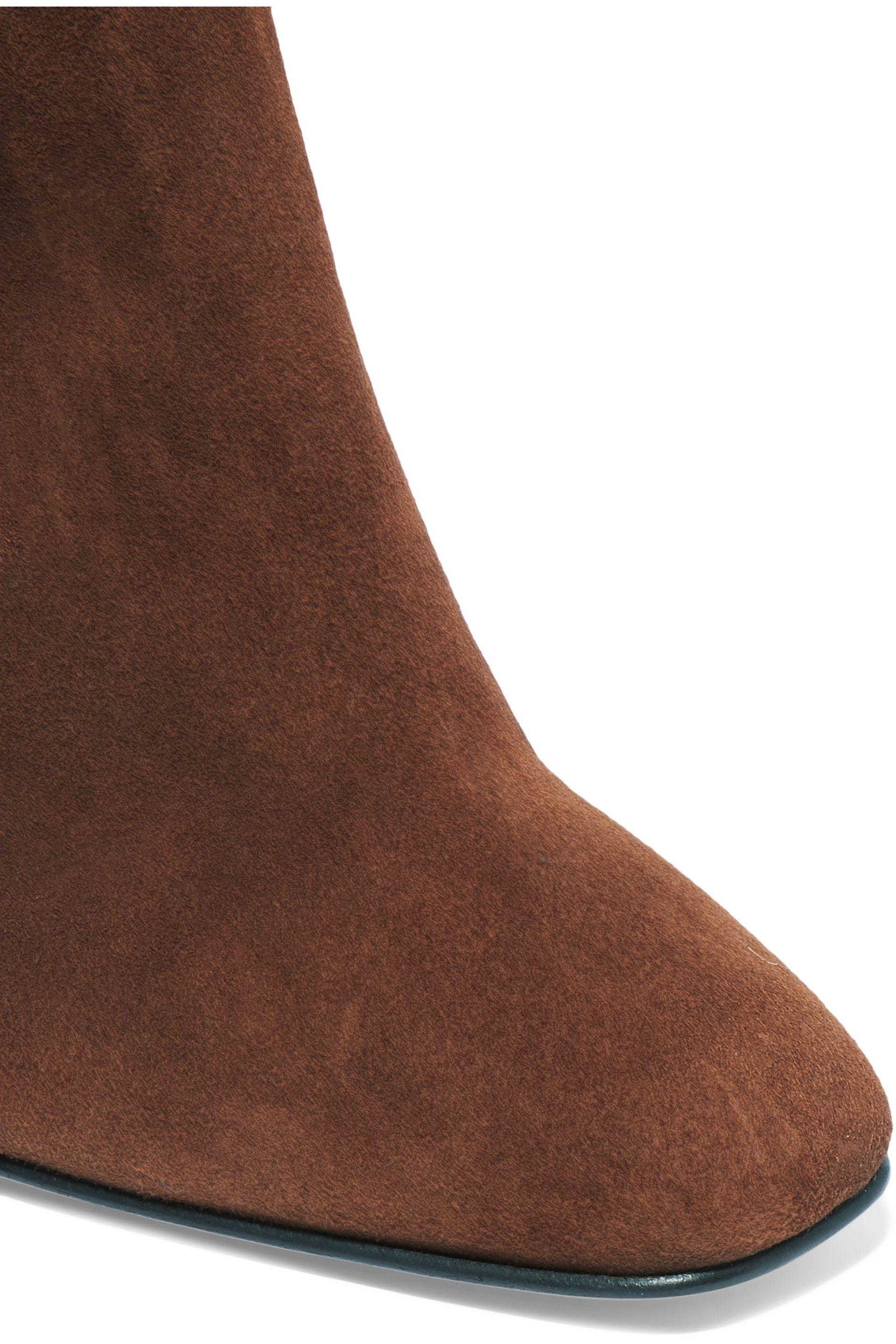 Giuseppe Zanotti Suede Thigh Boots in Brown