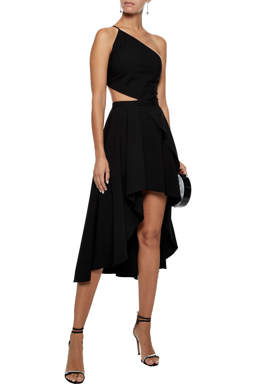 0f5c800ea1cd Lyst - Michelle Mason One-shoulder Asymmetric Cutout Cady Dress in Black