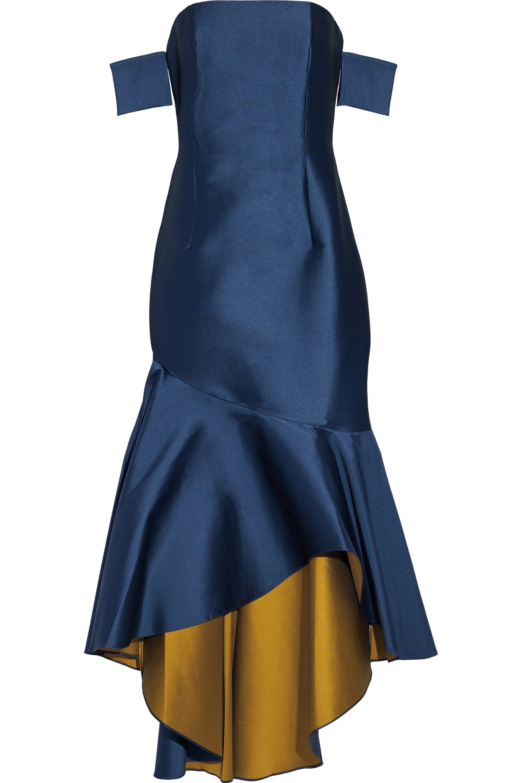 Sachin & Babi Woman Vezee Off-the-shoulder Floral-print Duchesse Satin-twill Dress Petrol Size 4 Sachin & Babi SJhLFdsg