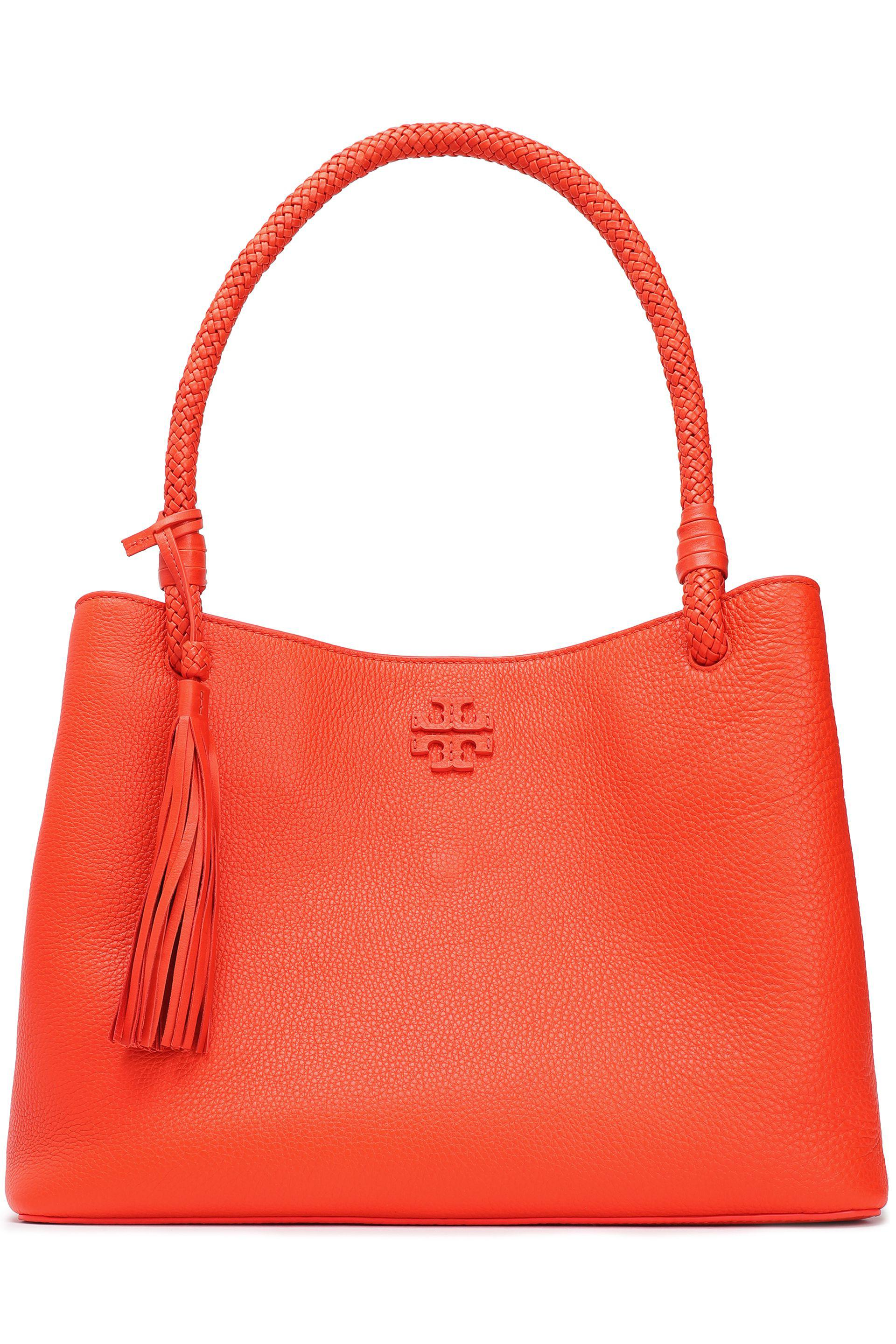 6cf3f9db1e0d switzerland tory burch taylor textured leather shoulder bag in orange lyst  a6bd7 79dcd