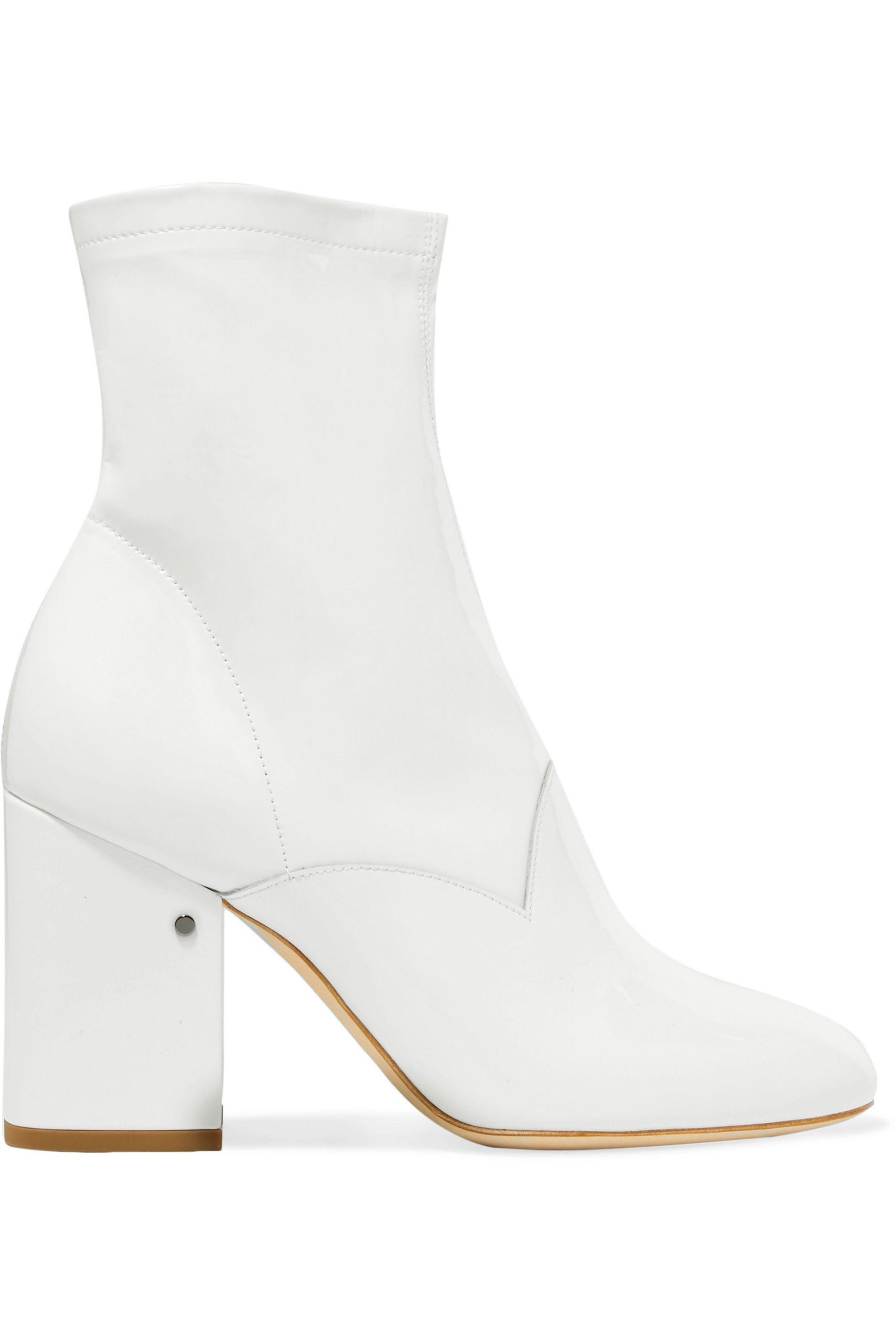 7fc301600b1 Lyst - Laurence Dacade Plume Patent-leather Ankle Boots in White