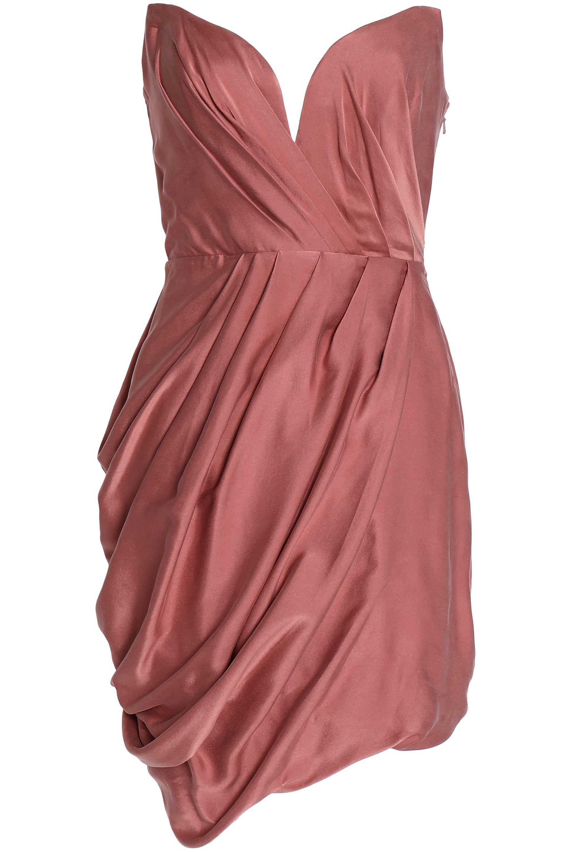 Zimmermann Woman Draped Washed Silk-satin Mini Dress Antique Rose Size 1 Zimmermann aCsEKJJXk