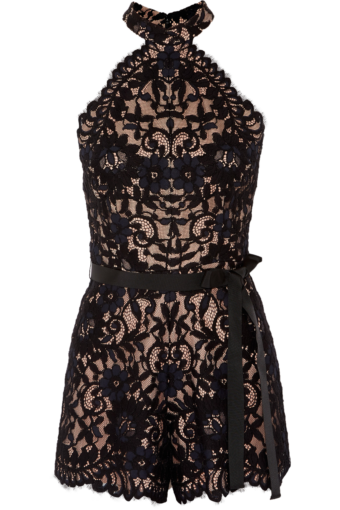 31b012440909 Lyst - Alexis Margot Cotton-blend Lace Playsuit in Black
