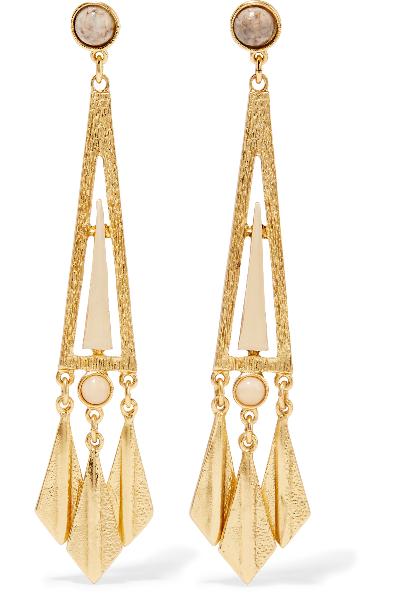 Ben-amun Gold-plated Stone Earrings in Blue