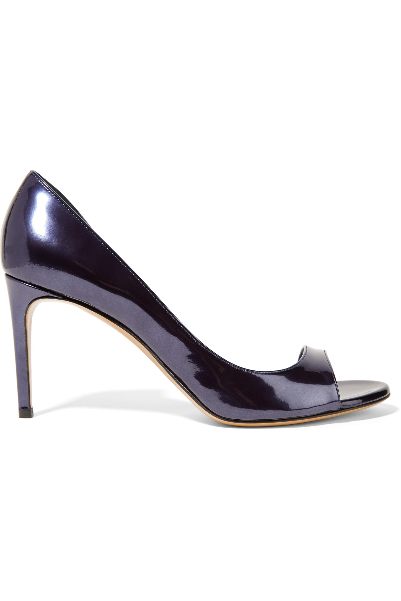 Casadei Metallic Patent-leather Sandals in Blue