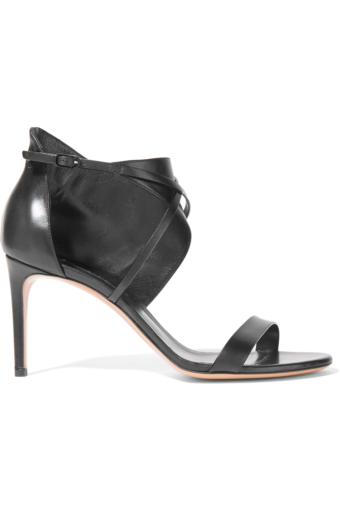 Casadei Leather Sandals in Black