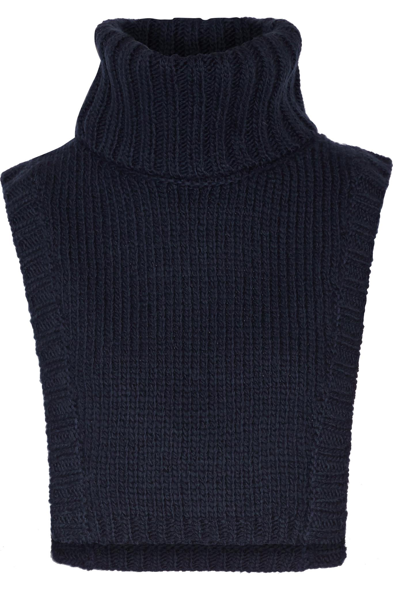 A L C Brandt Wool Blend Turtleneck Dickie In Blue Lyst