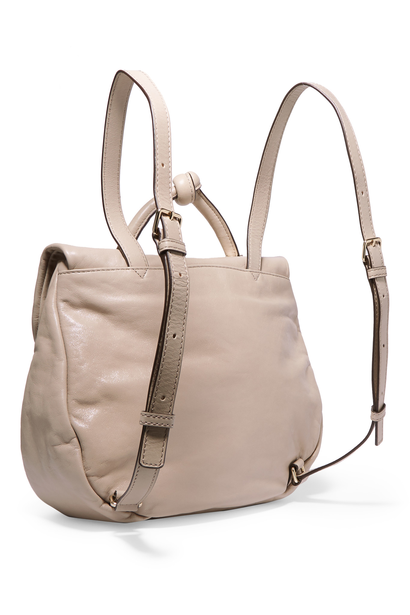 marc by marc jacobs leather backpack in natural beige lyst. Black Bedroom Furniture Sets. Home Design Ideas