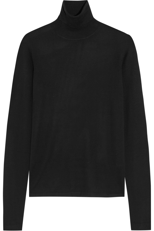 Joseph Merino Wool Turtleneck Sweater in Black | Lyst