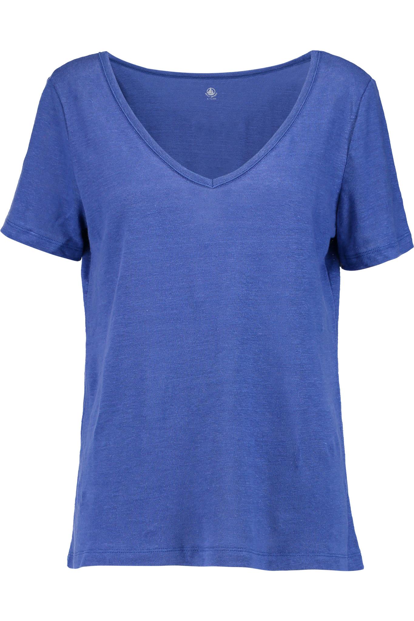 petit bateau slub linen t shirt in blue lyst. Black Bedroom Furniture Sets. Home Design Ideas