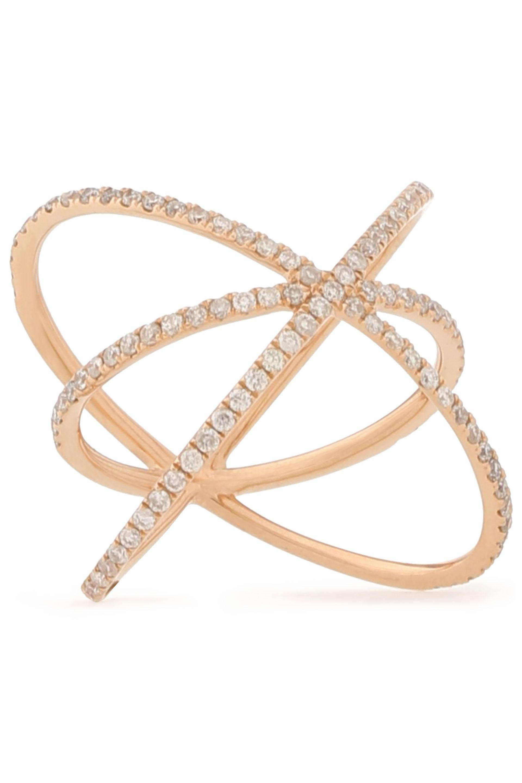 Carbon & Hyde Carbon & Hyde Woman 14-karat Rose Gold Diamond Necklace Gold Size A2W9s