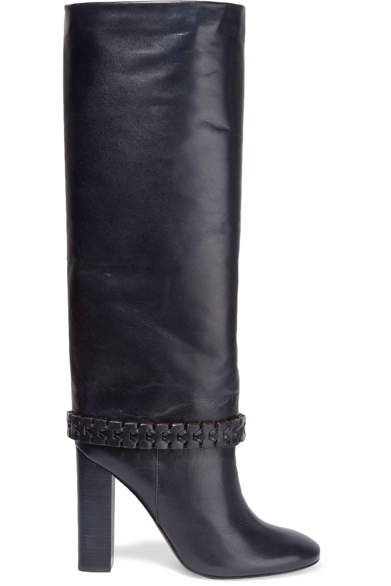 b53adc39be3 Tory Burch Sarava Leather Knee Boots in Blue - Lyst