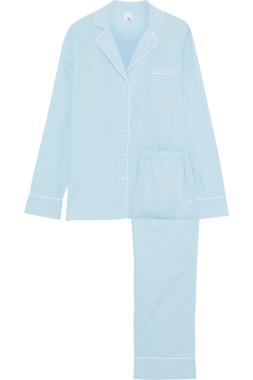 Iris & Ink Woman Jocelyn Cotton-gauze Pajama Set Sky Blue Size XL IRIS & INK Fashionable Free Shipping Low Price Fee Shipping Fake Factory Price Best Place Online jYKtQPtb
