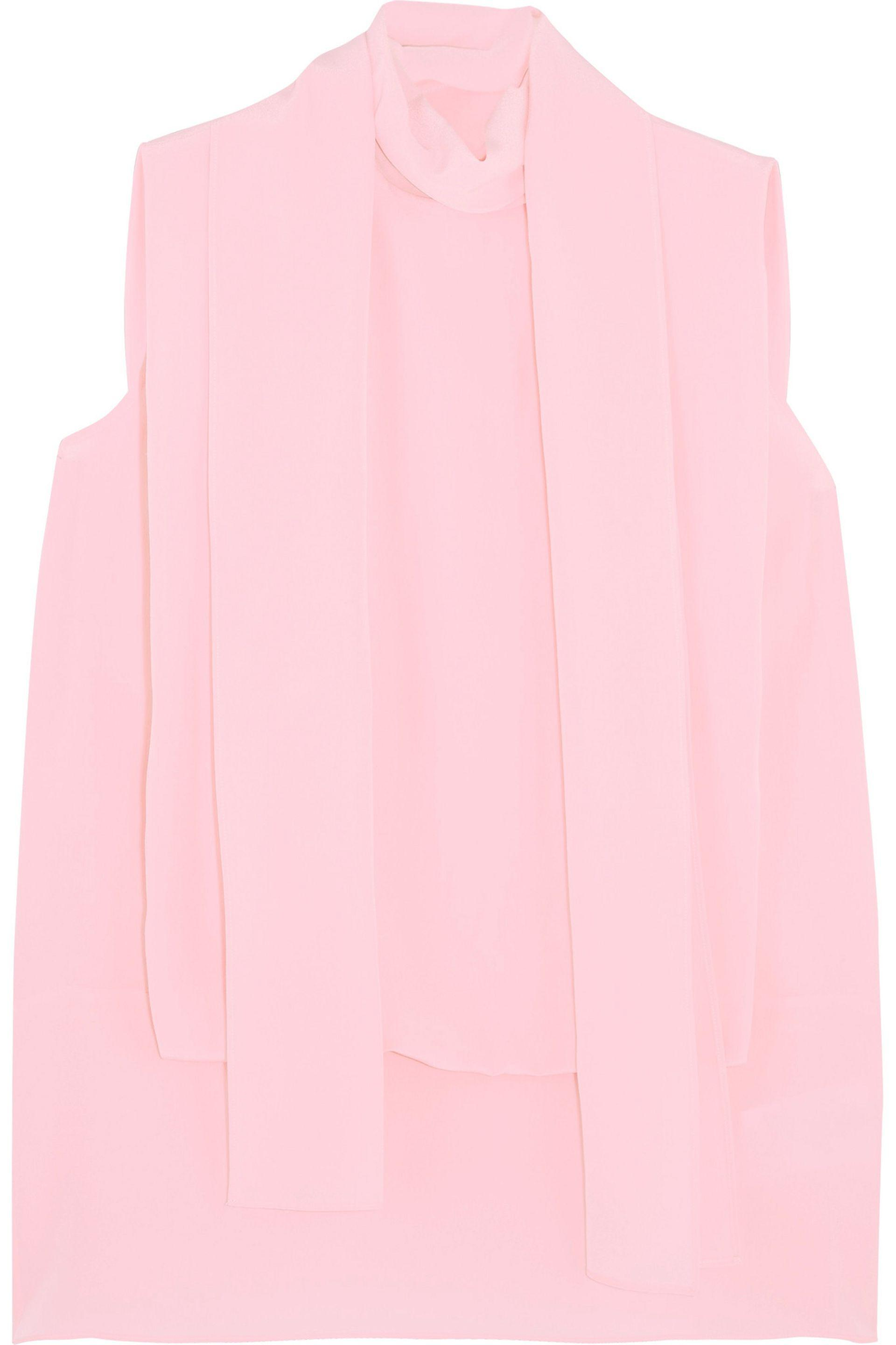 Valentino Woman Draped Silk Crepe De Chine Top Baby Pink Size 48 Valentino Best Price Ost Release Dates Clearance Inexpensive Sale Browse Exclusive Online OvCk82Q8