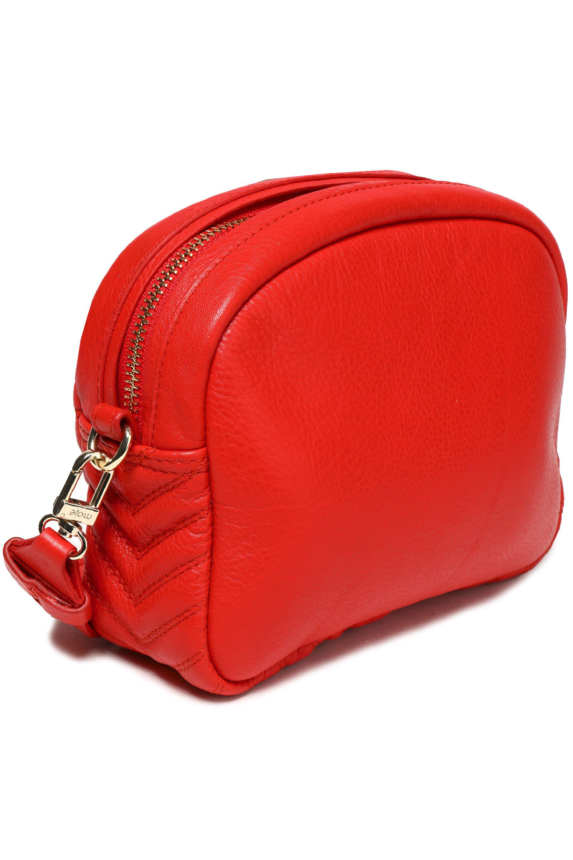 Maje Leather Cross Body in Red