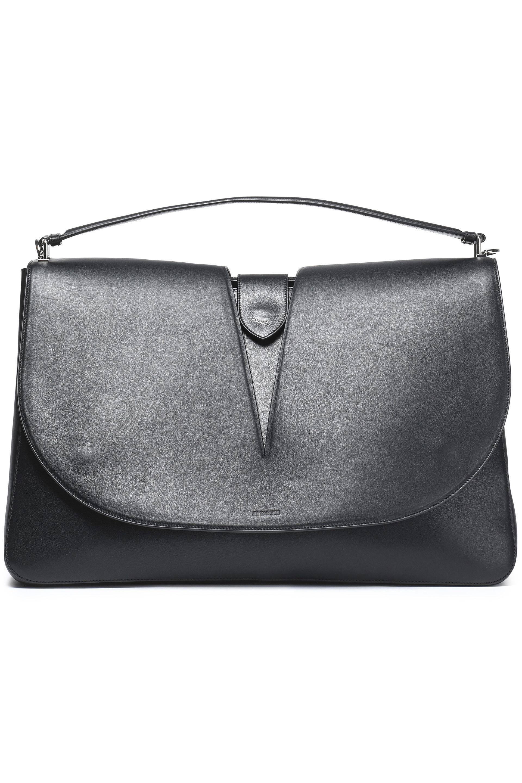 Lyst - Jil Sander Cutout Leather Shoulder Bag in Black e8ea0b73239c7