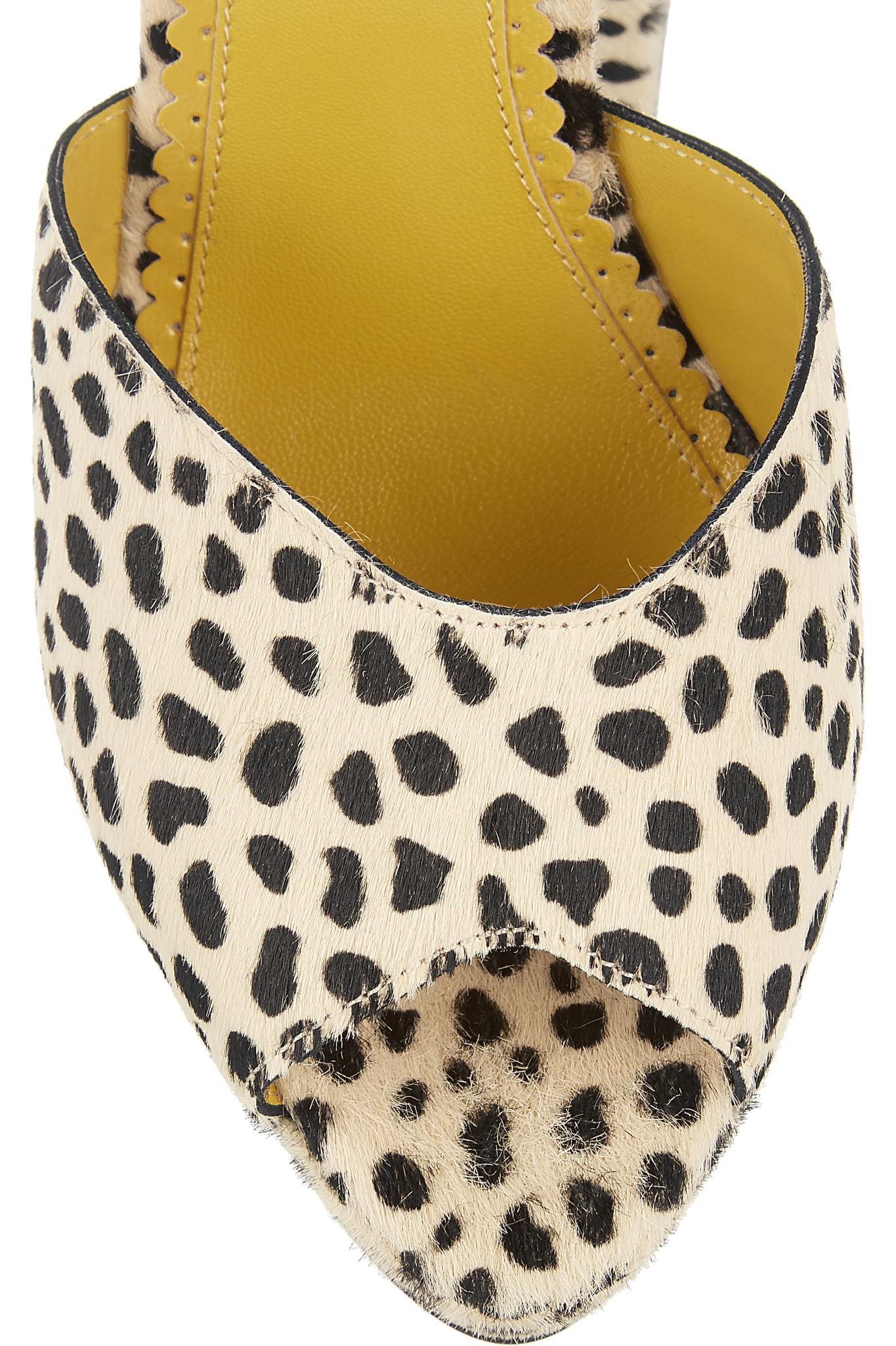 9e7f81b5120 Lyst - Charlotte Olympia Chantale Cheetah-print Calf Hair Platform ...