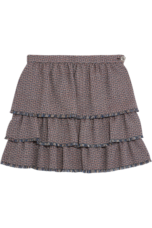 92ac1f8628 Sonia Rykiel Layered Ruffled Wool-tweed Mini Skirt - Lyst