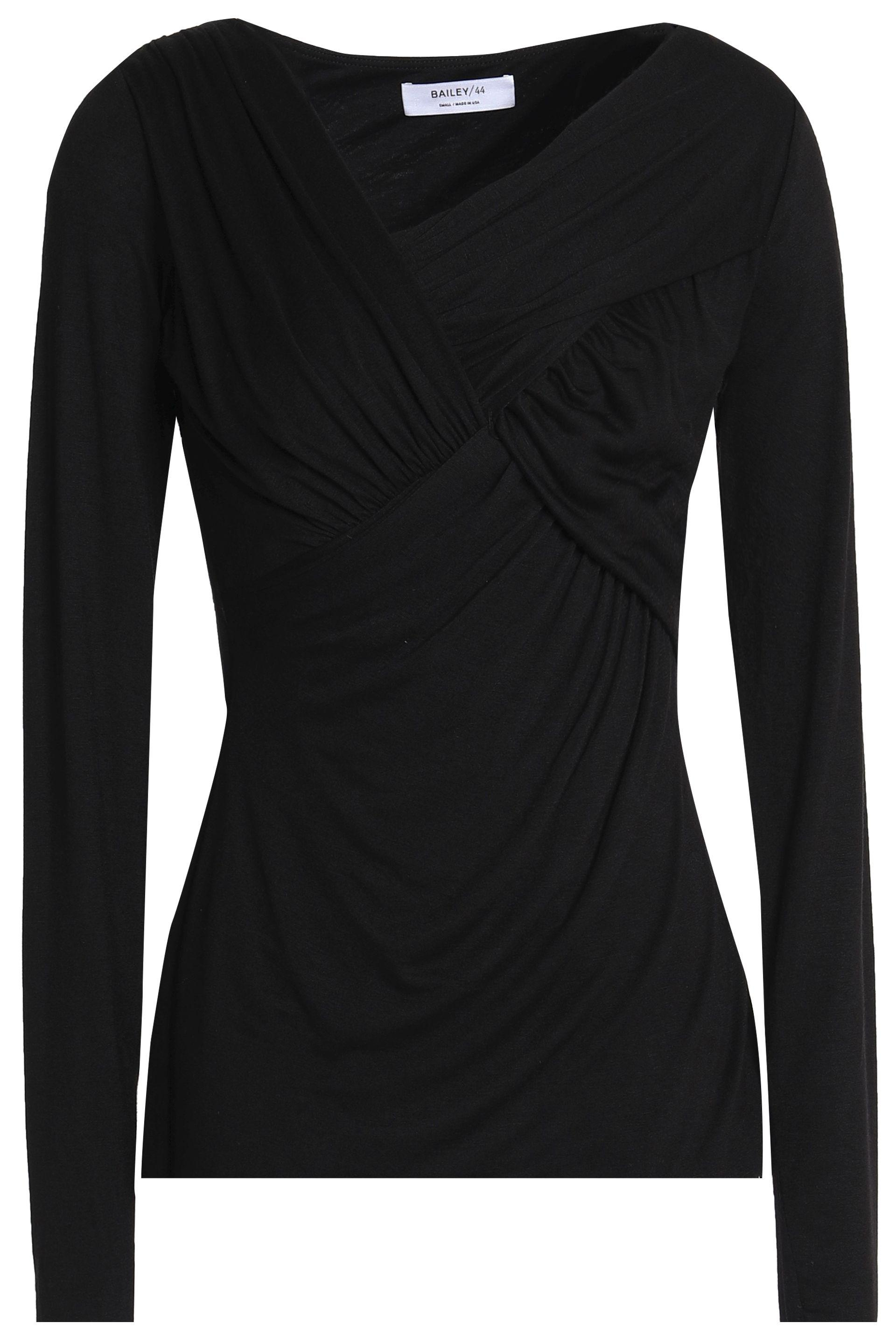 Bailey 44 Woman Twist-front Ruched Stretch-jersey Top Black Size M Bailey 44 Outlet 2018 New Discount From China Order Sale Online Reliable Online qyhsyNjY