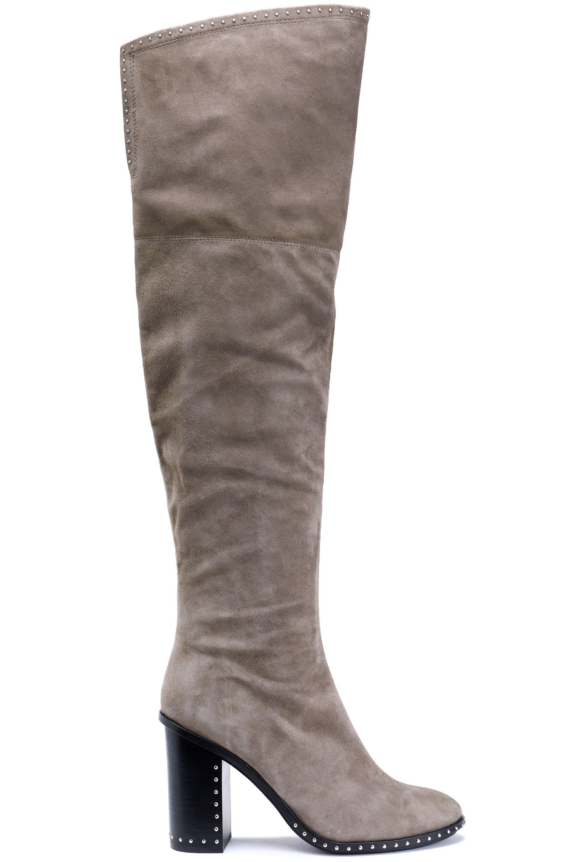 bce43e0e405 Sigerson Morrison. Women s Mars Studded Suede Thigh Boots