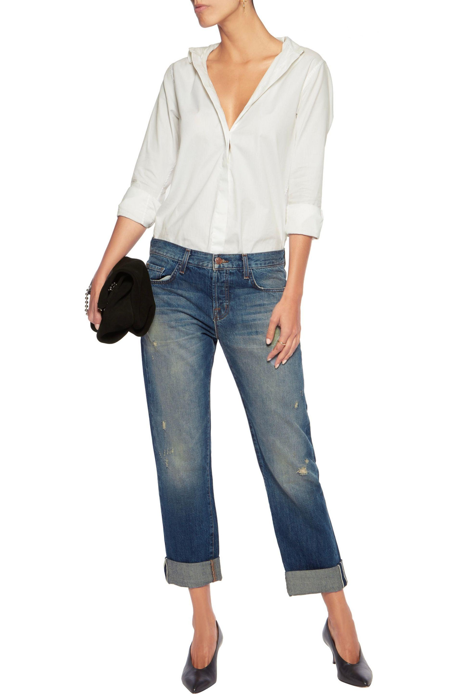 J Brand Woman Sonny Boyfriend Jeans Mid Denim in Blue