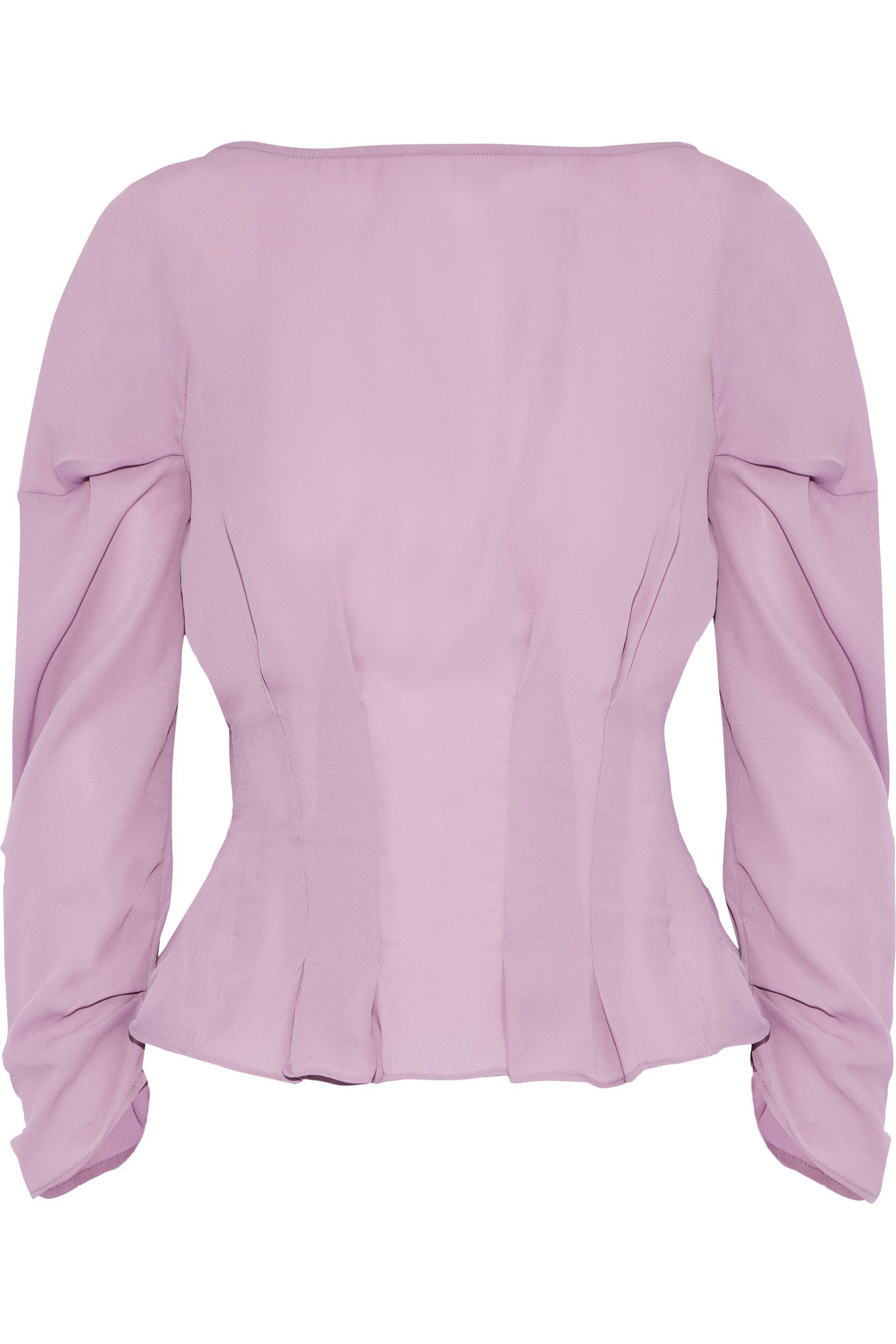 c8866d77c8976f Lyst - W118 by Walter Baker Woman Lizzie Pleated Crepe De Chine Top ...