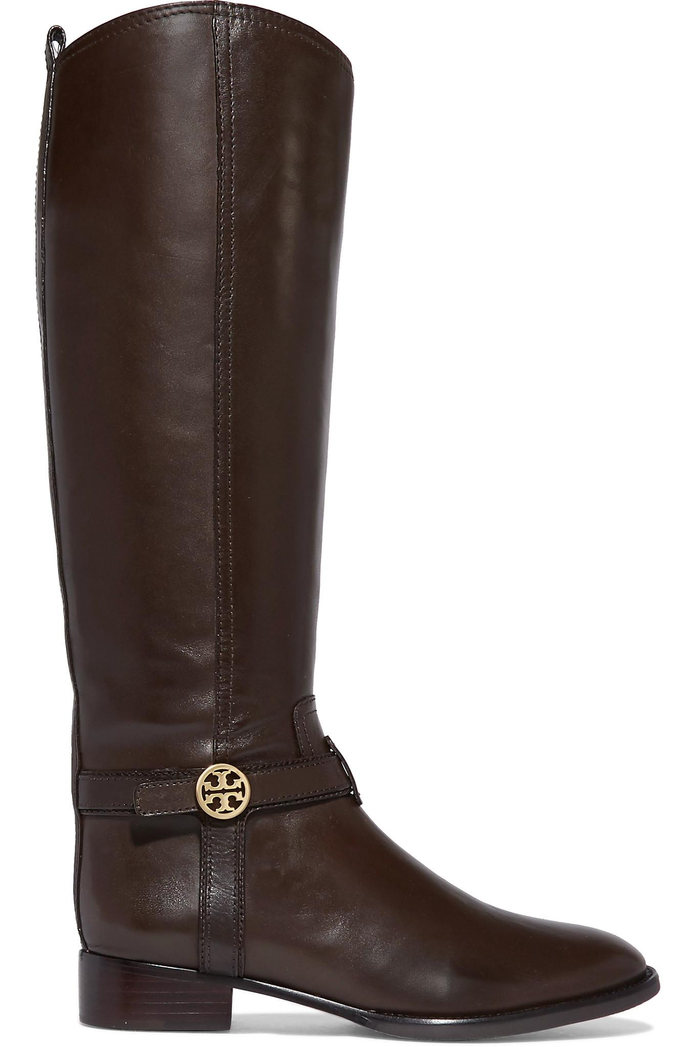 8311e61ff25e21 Tory Burch Bristol Leather Knee Boots in Brown - Lyst