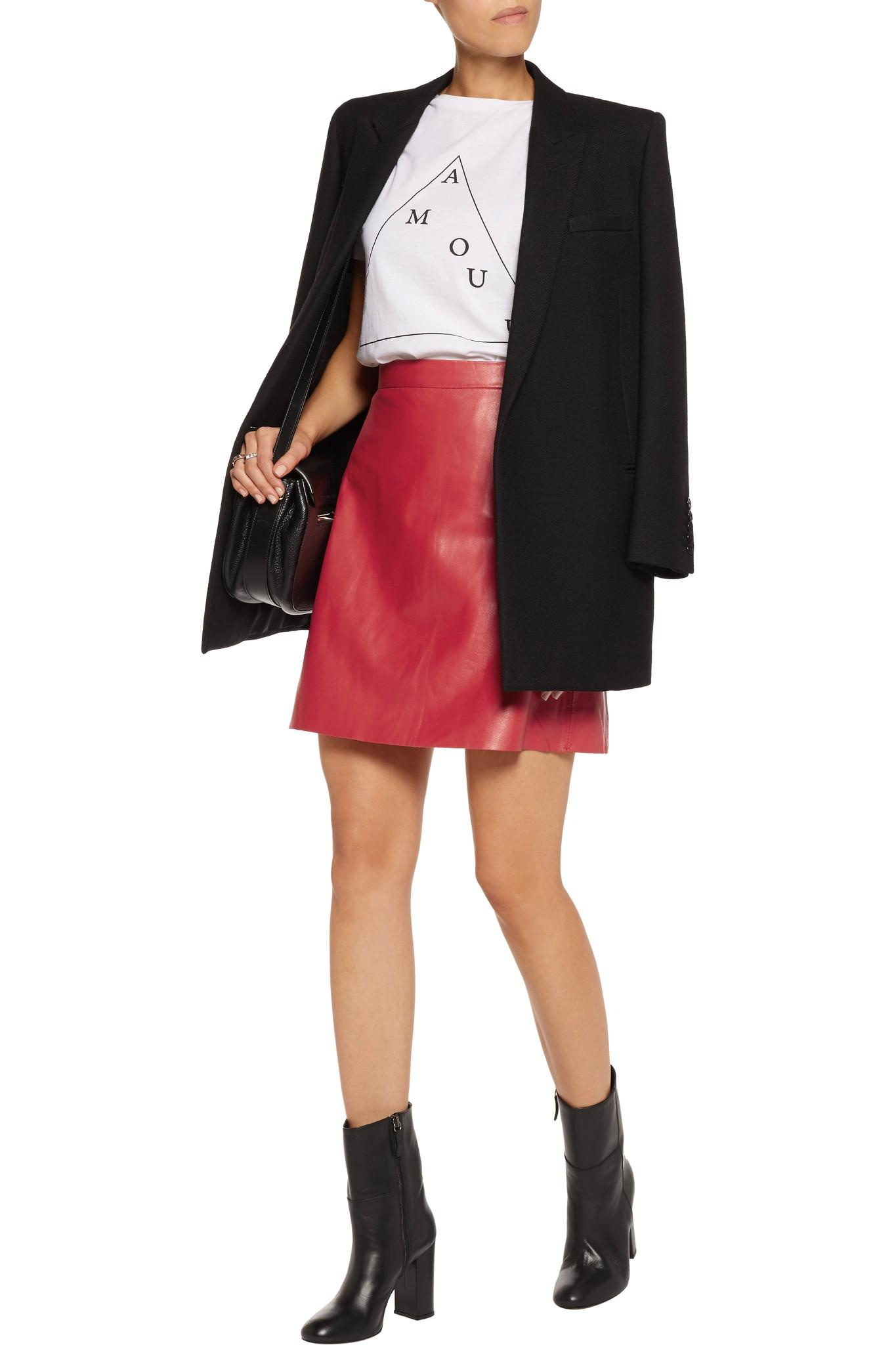 85f5bb6e50 How To Wear Red Leather Mini Skirt   Huston Fislar Photography