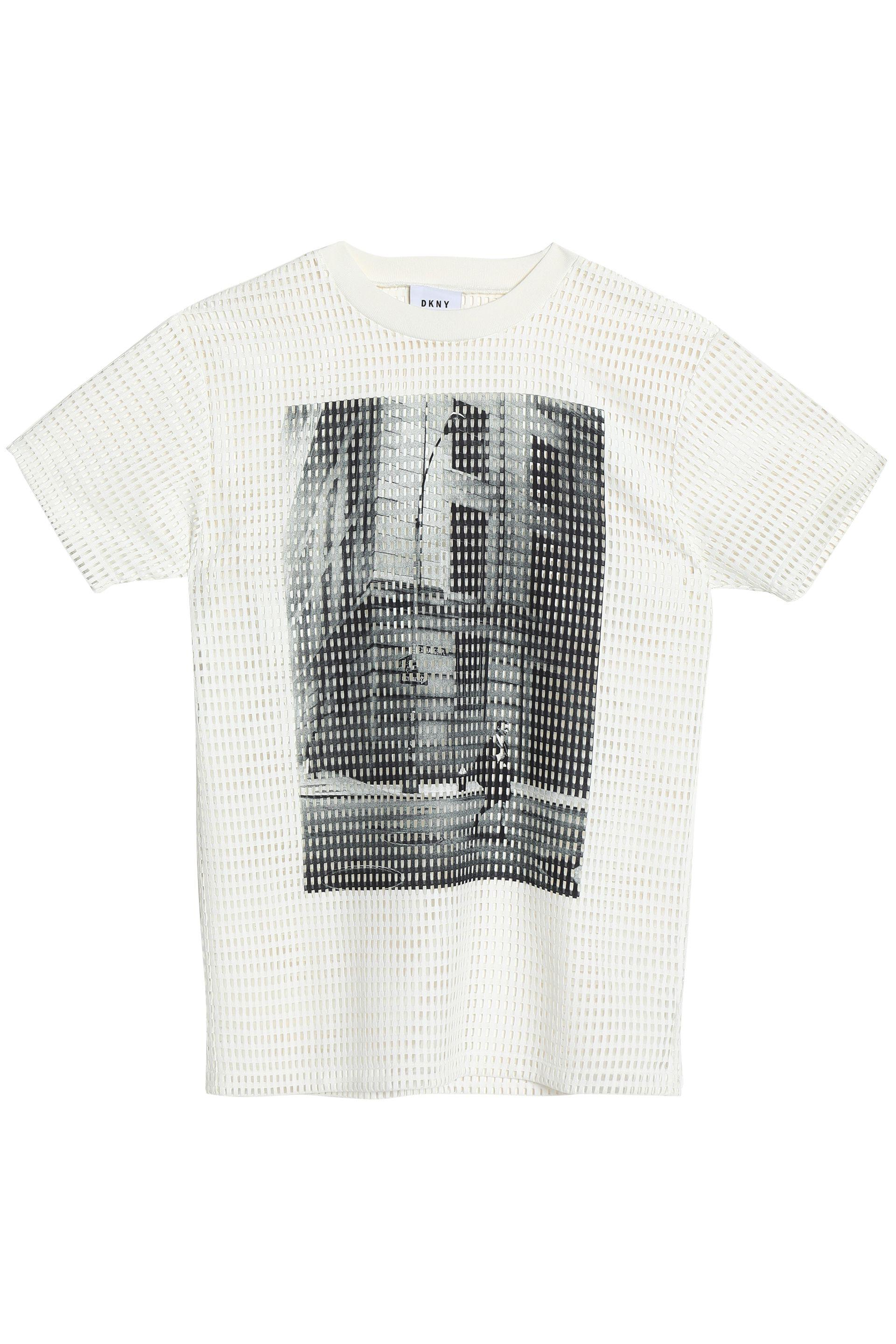 Explore Cheap Price 100% Authentic Cheap Price Dkny Woman Laser-cut Printed Jersey T-shirt Off-white Size XXS DKNY Sale For Sale Cheap 2018 Unisex XUf03