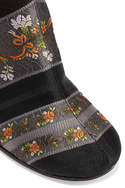 Maison Margiela Denim Jacquard Ankle Boots in Black