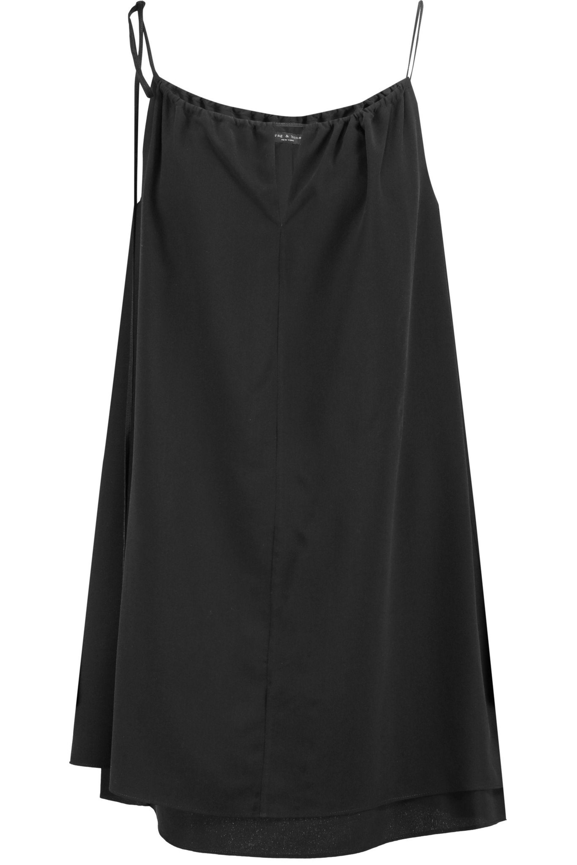 Rag & Bone - Black Samantha Layered Silk Crepe De Chine Mini Dress - Lyst.  View fullscreen