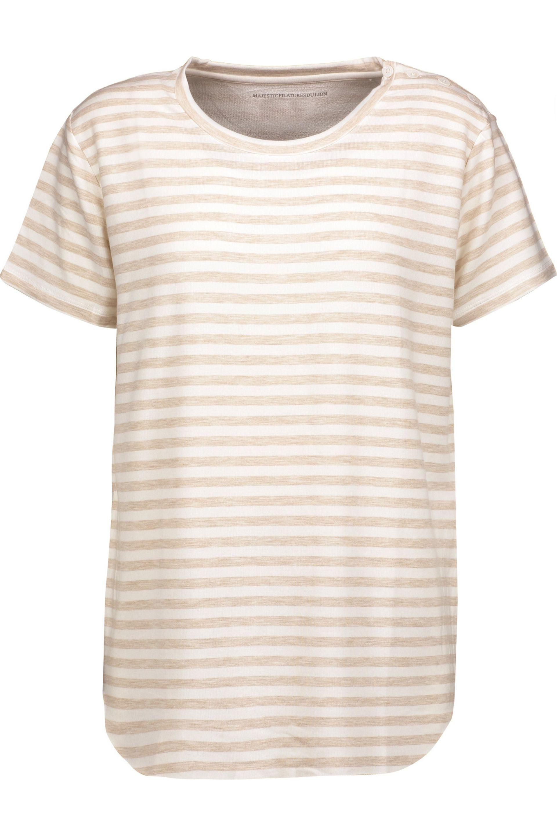 Majestic Filatures Woman Striped Slub Linen-jersey Top Off-white Size 3 Majestic Filatures Clearance 2018 New Outlet Authentic Clearance Choice 0kuEYXTMxM