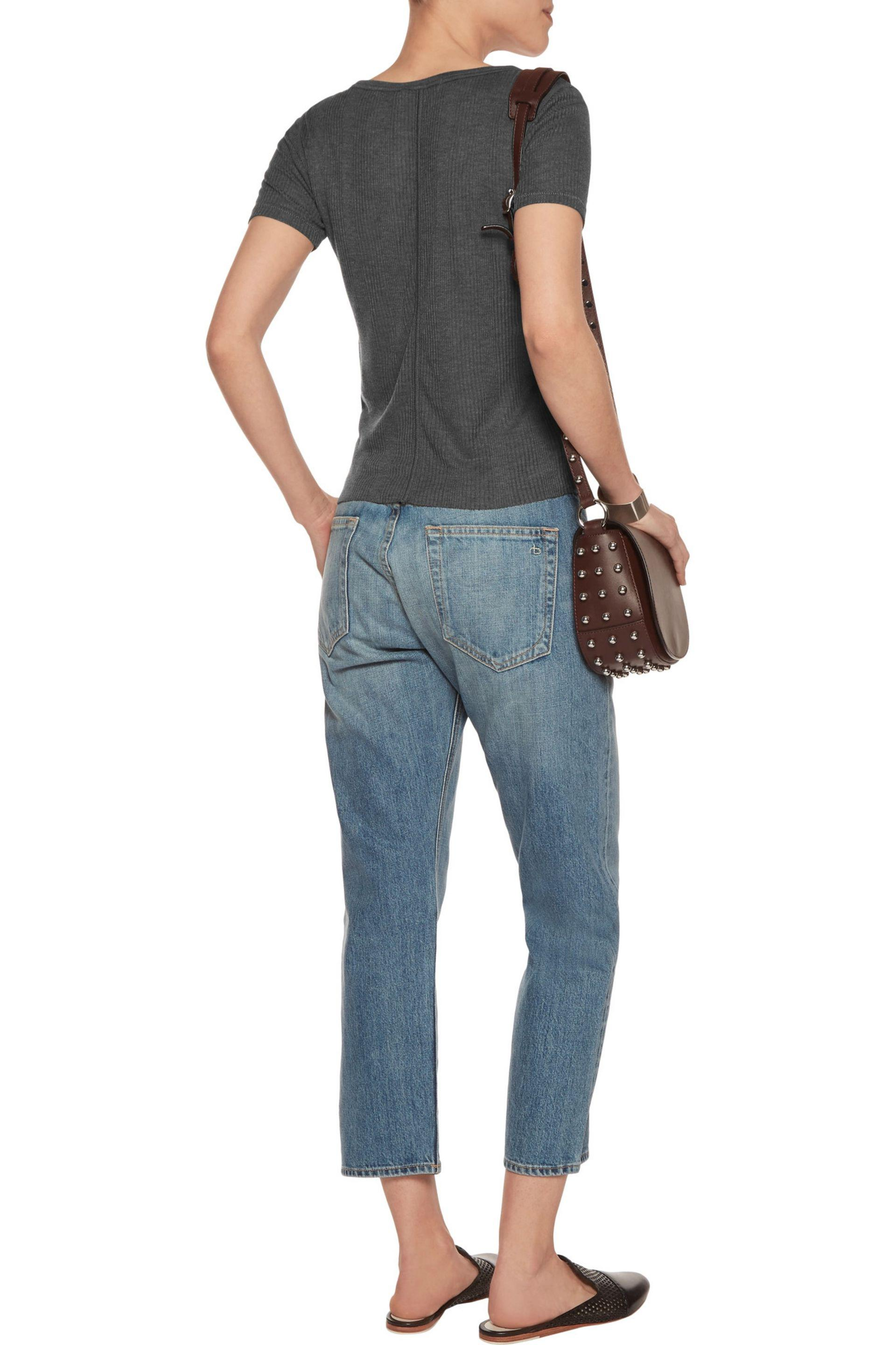 Rag & Bone Denim Marilyn Boyfriend Jeans in Light Blue (Blue)