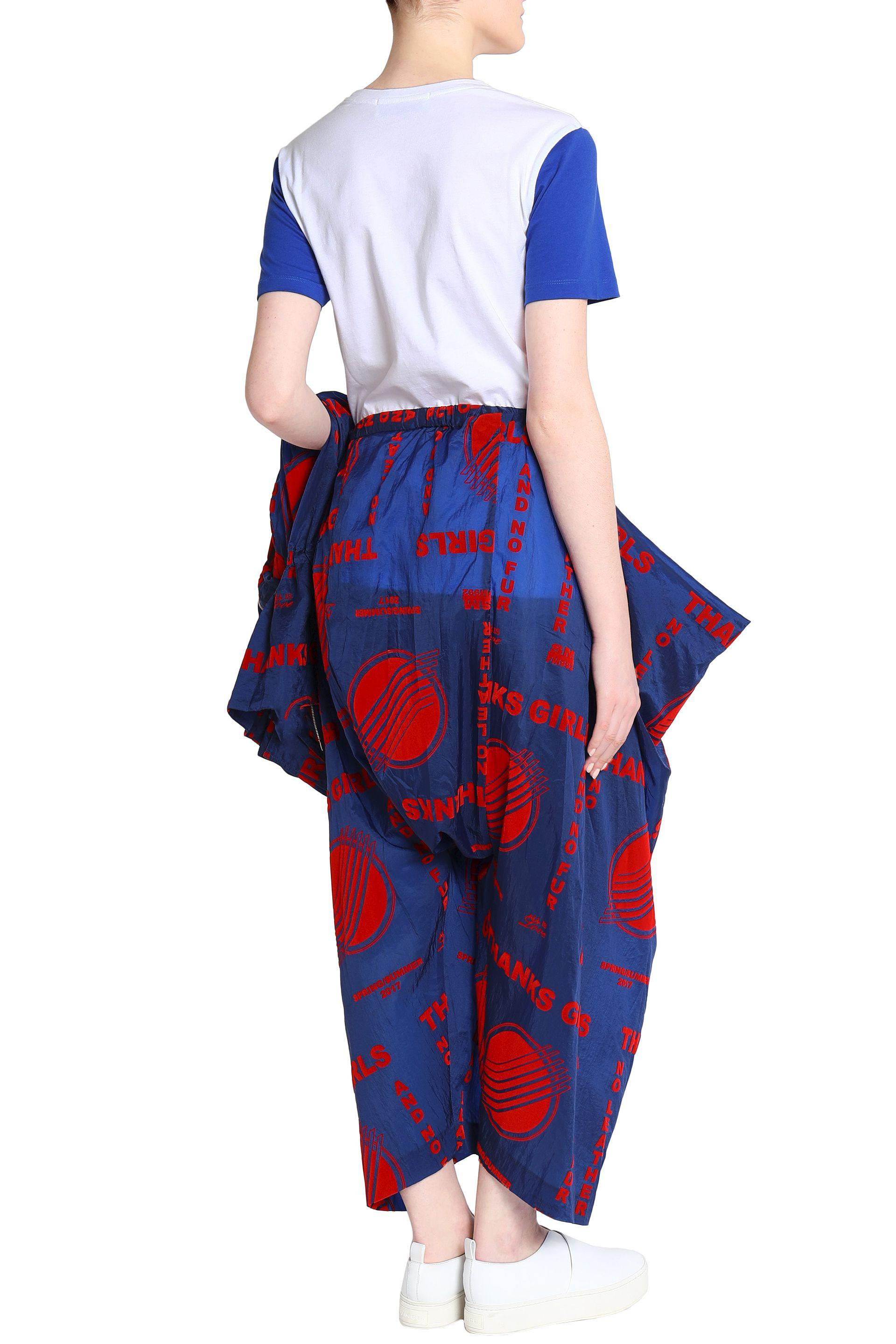 Stella McCartney Printed Shell Track Pants in Navy (Blue)