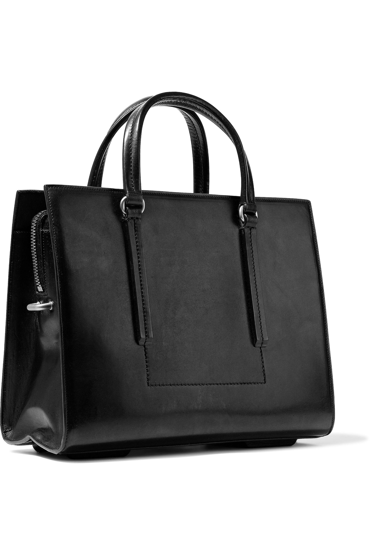 Lyst - Rick Owens Edith Leather Shoulder Bag in Black 4dad57e580745