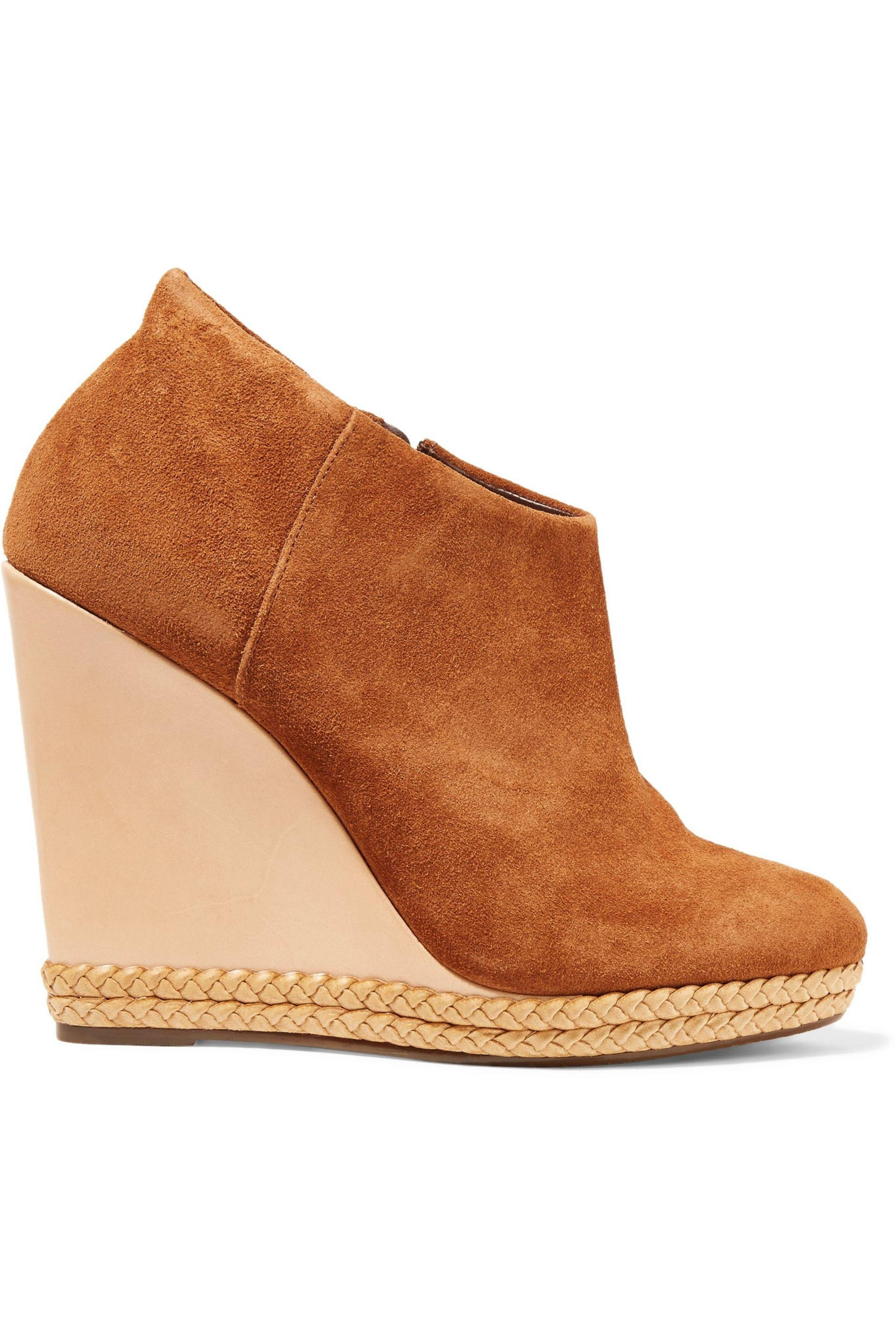 Schutz Suede Wedge Ankle Boots many kinds of cheap online JsugWRIcD