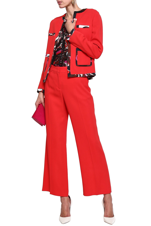 0da7f2f42e60 Emilio Pucci - Woman Stretch-crepe Flared Pants Tomato Red - Lyst. View  fullscreen
