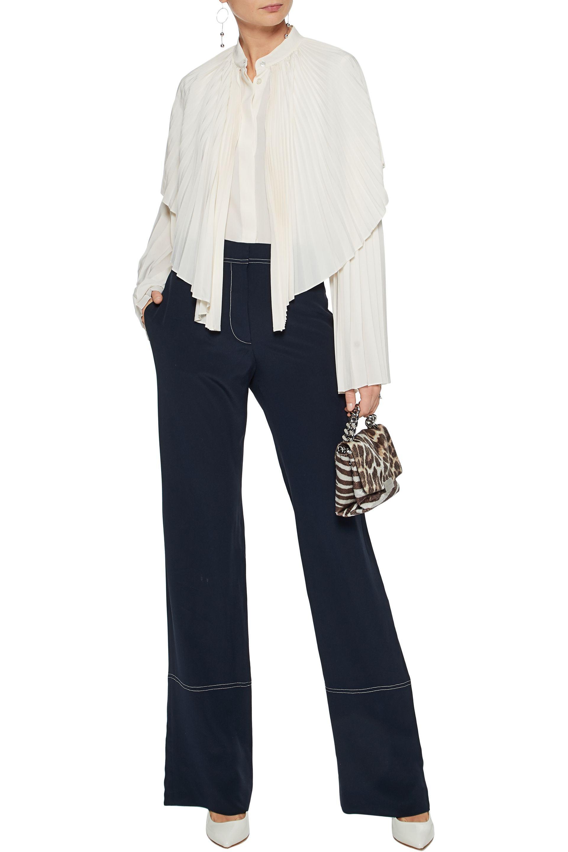 Discount Official Silk Wide-Leg Pants Stella McCartney Hyper Online Discount Clearance Discount Fake 9ljLzM