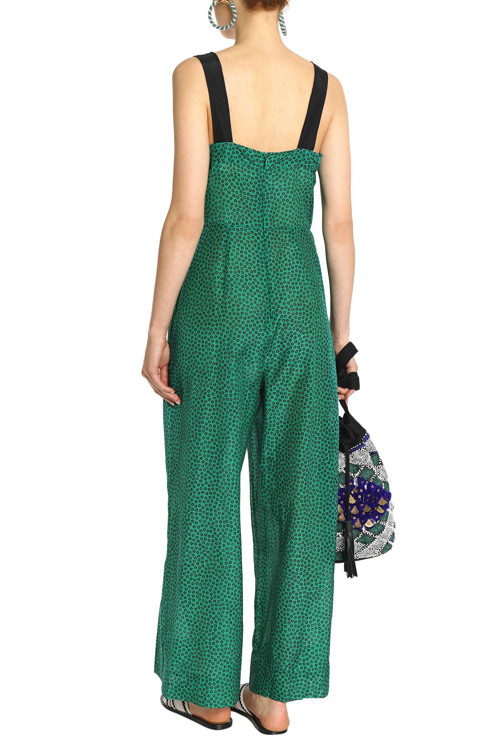 0dd9ae7c7a Diane Von Furstenberg Printed Cotton And Silk-blend Wide-leg ...