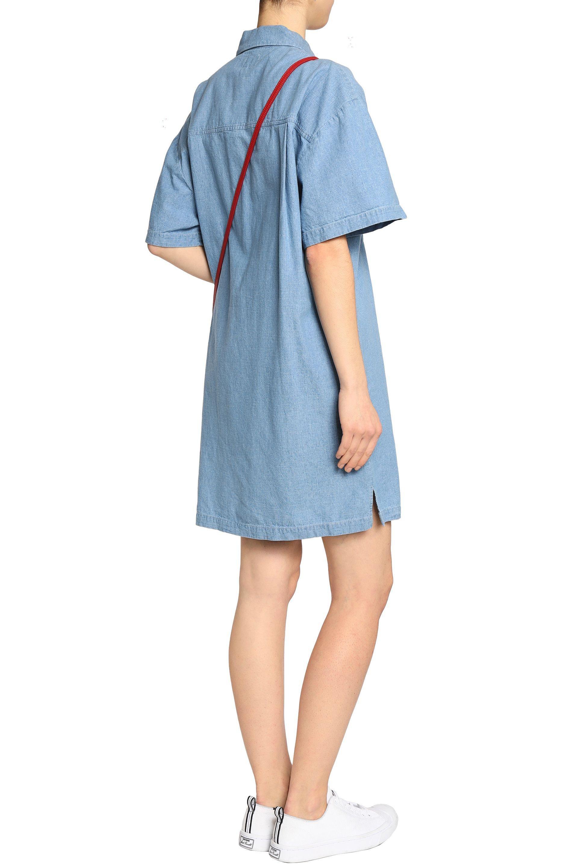 Derek Lam 10 Crosby Woman Cotton-chambray Shirt Dress Light Blue Size S Derek Lam P36eTJq