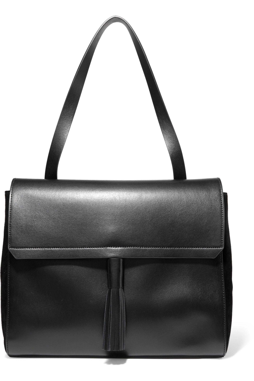 07c85cc7116 Lyst - Iris   Ink Tasseled Leather Shoulder Bag in Black