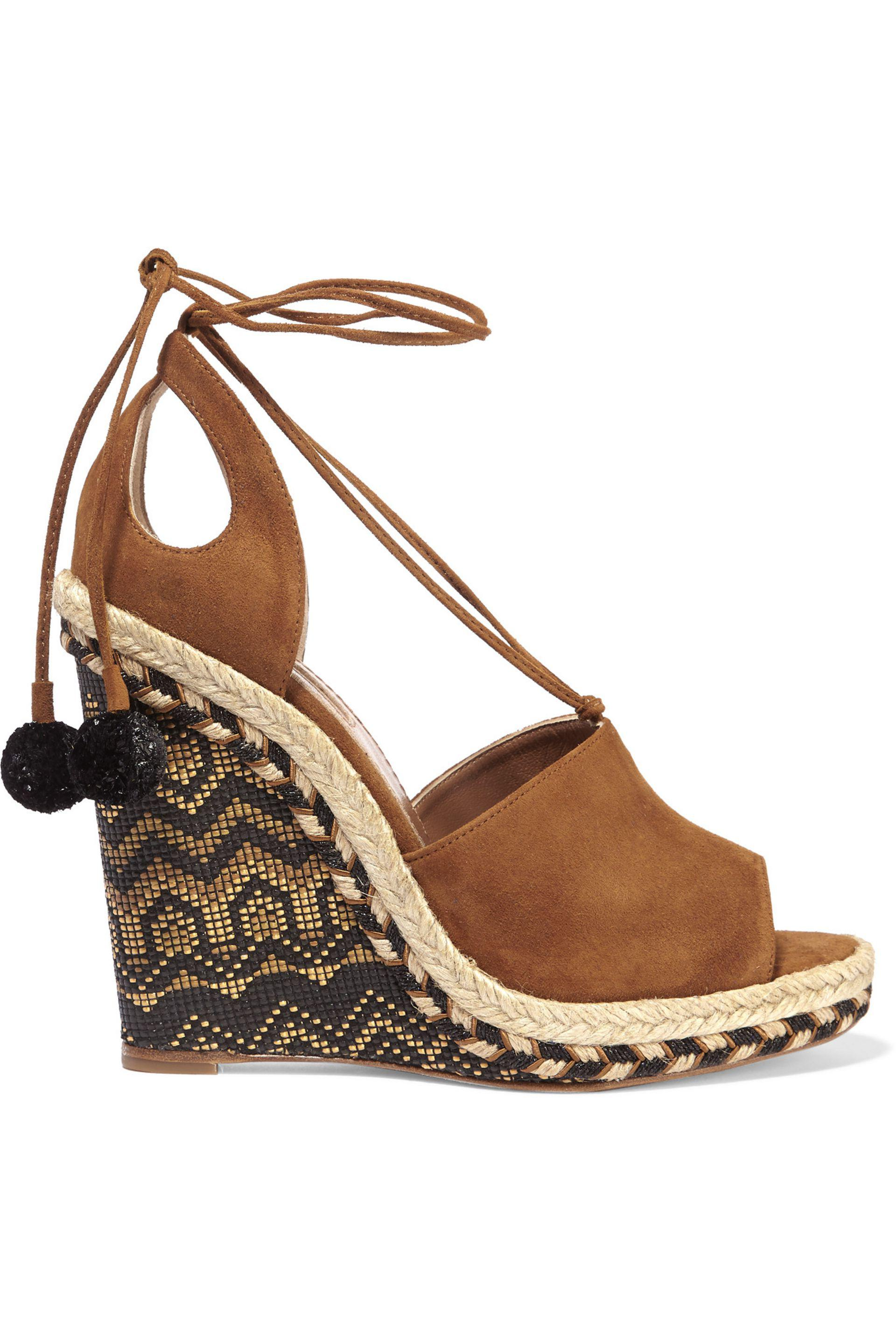 Aquazzura Suede Cutout Wedges cheap sale best store to get free shipping sale online outlet looking for limited edition cheap online 1vZUTo3Q