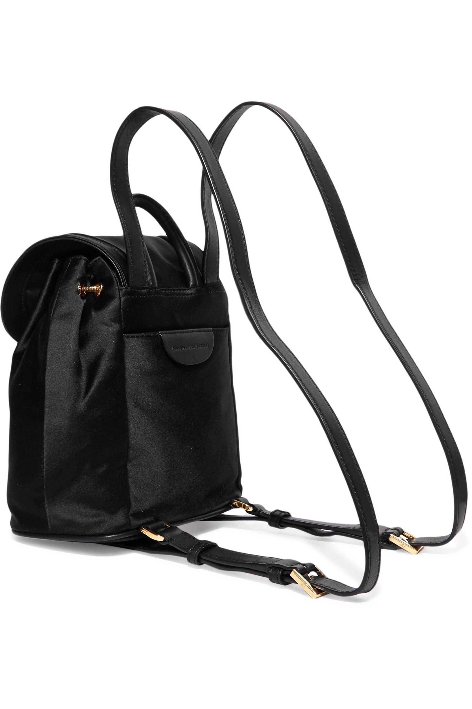 Diane von Furstenberg Satin Backpack in Black