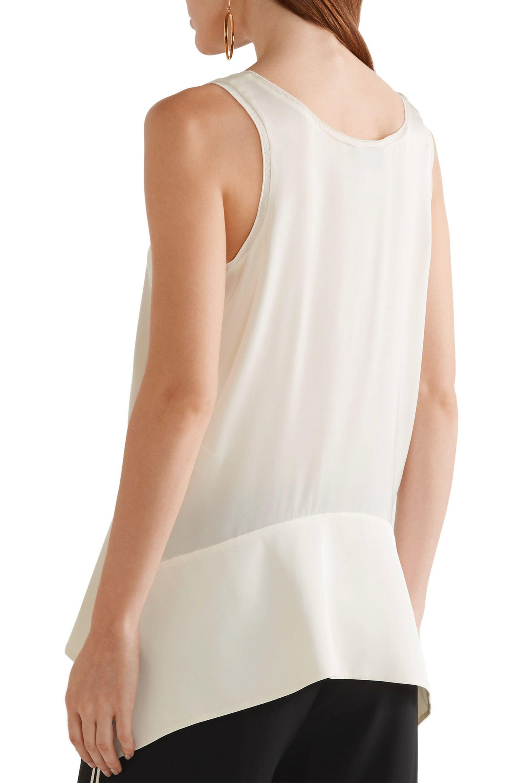 By Malene Birger - White Sappia Asymmetric Stretch-silk Satin Tank - Lyst.  View Fullscreen