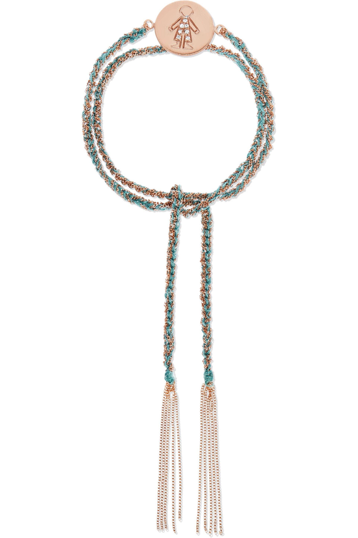 Carolina Bucci Baby Boy Lucky 18-karat Rose Gold And Silk Bracelet 5i6pbMs