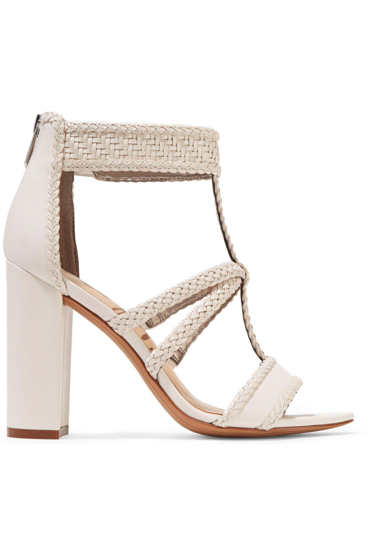 14ed3175f1f3 Lyst - Sam Edelman Yordana Woven Leather Sandals in White