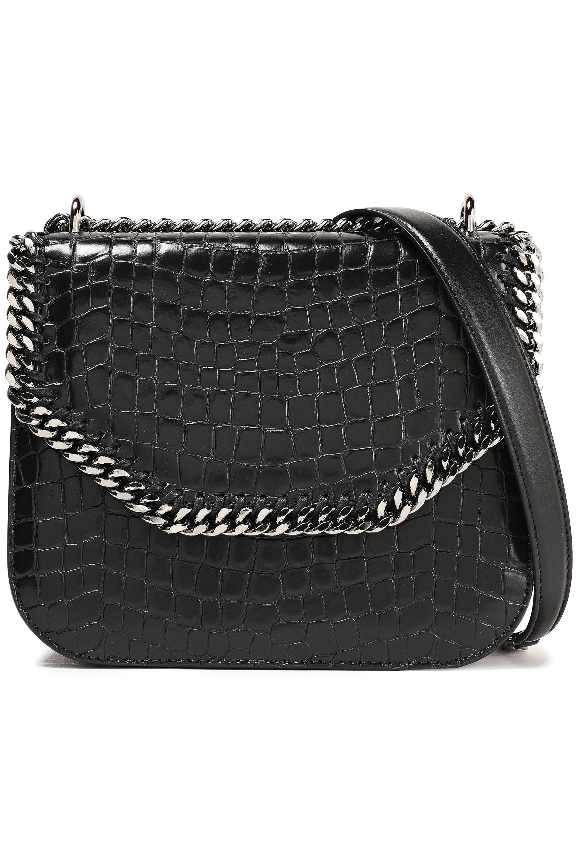 53bcdfa838 Stella McCartney Woman Falabella Croc Effect Faux Leather Shoulder ...