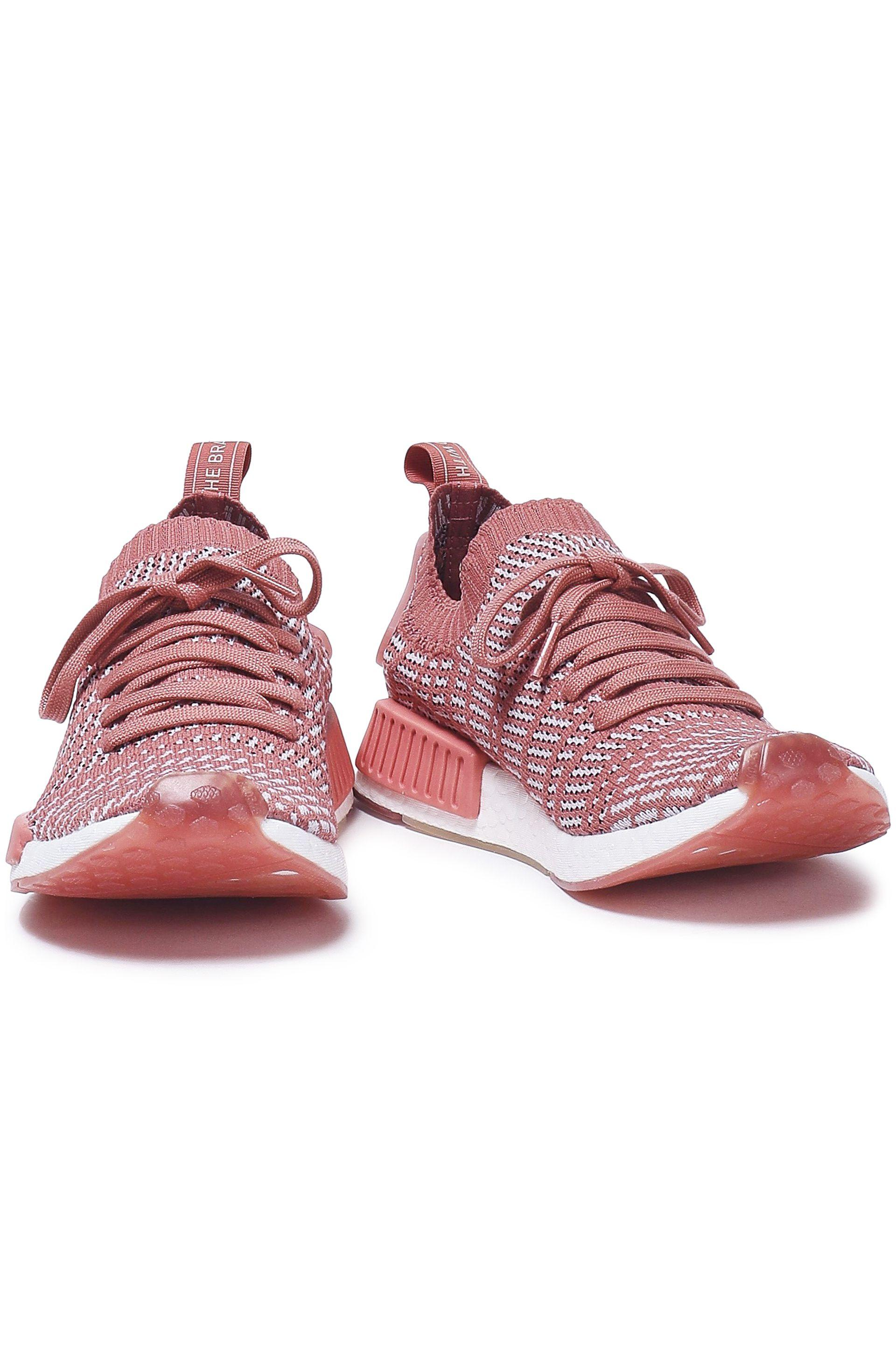 Women's Pink Nmd_r1 Stlt Stretch knit Trainers Antique Rose